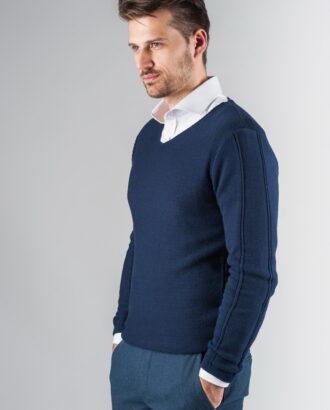 Мужской пуловер синего цвета. Арт.:8-237