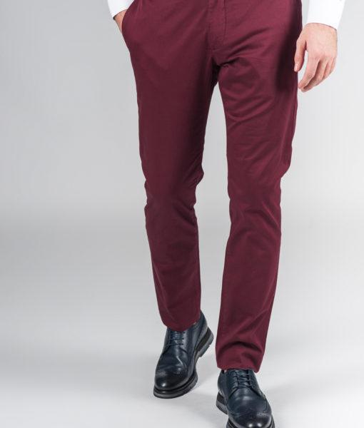 Модные брюки цвета бордо