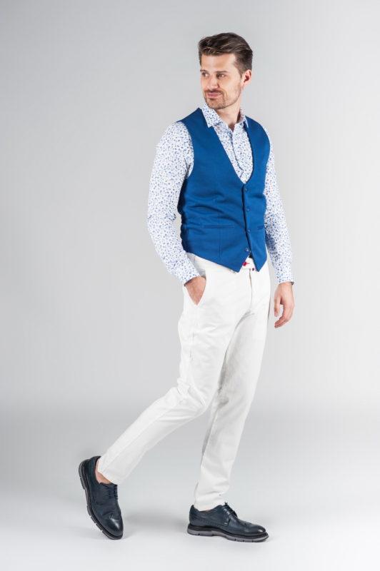 Белые мужские брюки. Арт.:6-239-3