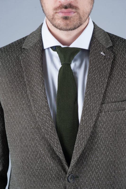 Темный мужской пиджак в стиле кэжуал. Арт.:2-242-1