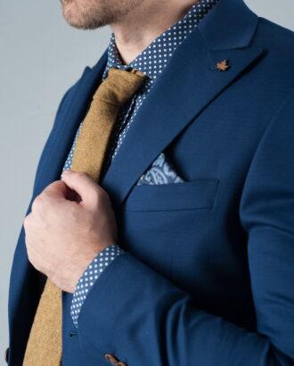 Летний пиджак без подкладки синего цвета J-244PP