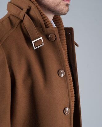 Мужское приталенное пальто