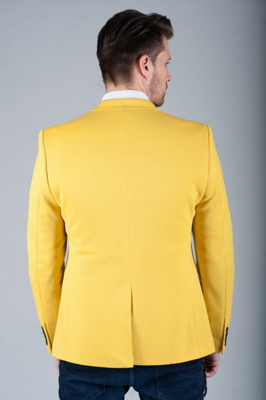 Мужской пиджак желтого цвета. Арт.:2-258-2