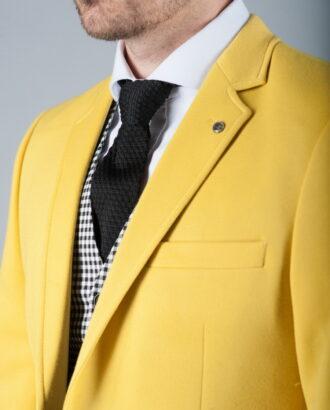Мужской пиджак желтого цвета J-258FR