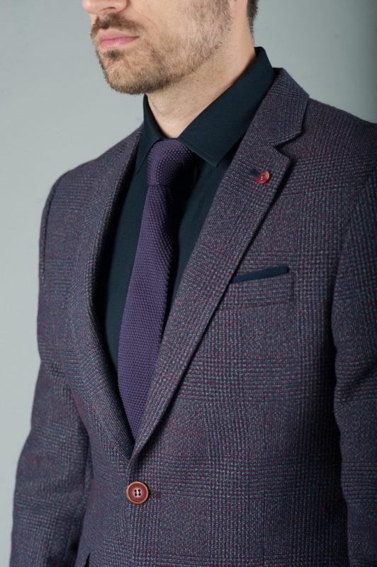 Мужской пиджак в оттенке фиолетового. Арт.:2-259-2