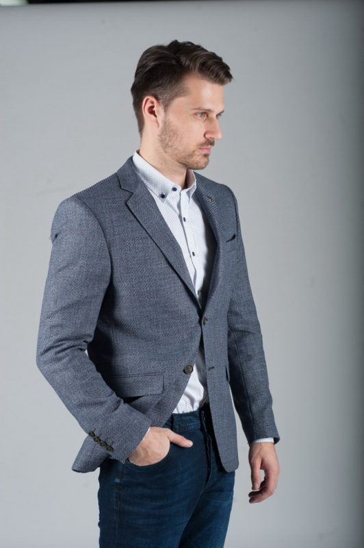 Серый мужской пиджак под джинсы. Арт.:2-260-2