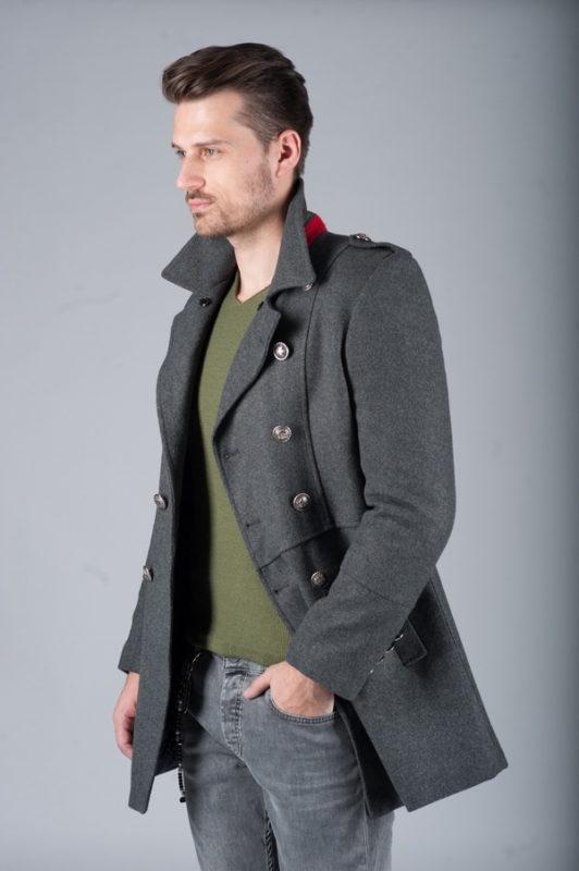 Пальто шинель серого цвета. Арт.:1-261-3