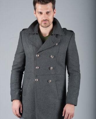 Пальто шинель серого цвета