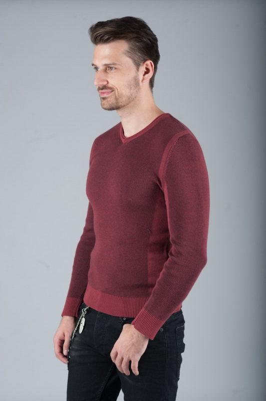 Комфортный пуловер бордового цвета. Арт.:8-264