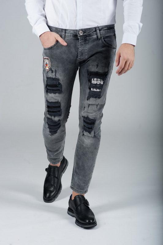 Оригинальные джинсы с имитацией рваности. Ар.:7-265