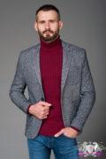 Серый пиджак с накладными карманами. Арт.:2-461-3
