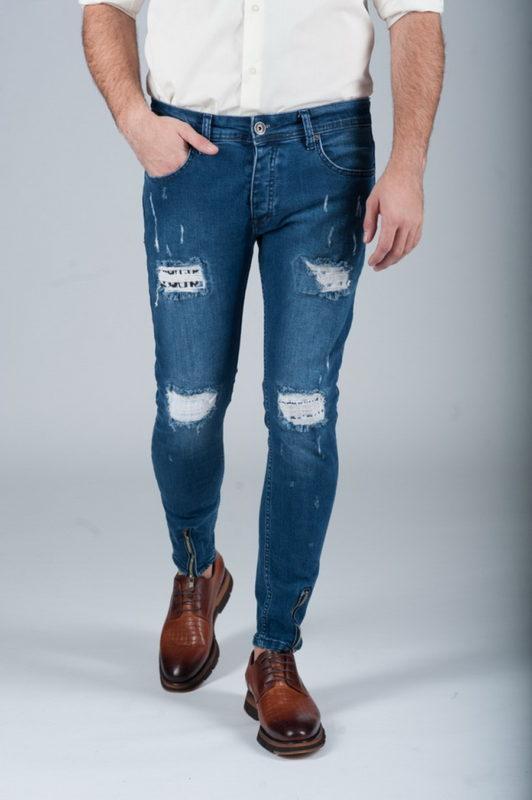 Стильные джинсы с замочками. Ар.:7-266