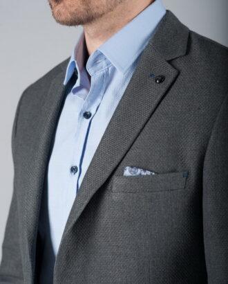 Мужской пиджак под джинсы серого цвета J-268SC
