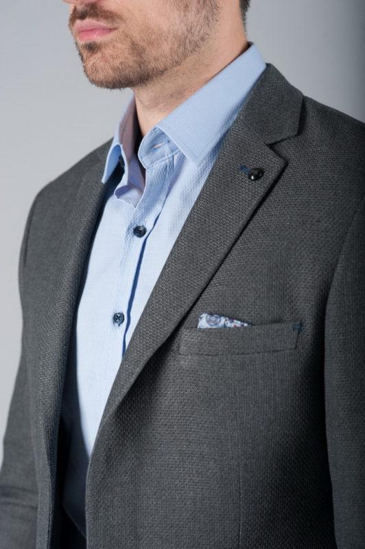 Мужской пиджак под джинсы серого цвета. Арт.:2-268-1