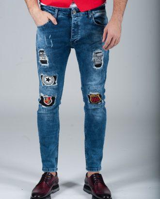 Эффектные светло-синие джинсы . Ар.:7-269