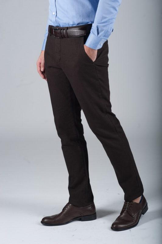 Стильные брюки коричневого цвета. Арт.:6-276-2