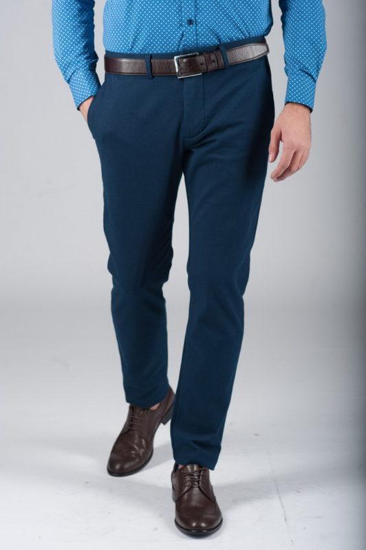 Синие брюки из хлопка . Арт.:6-286-2