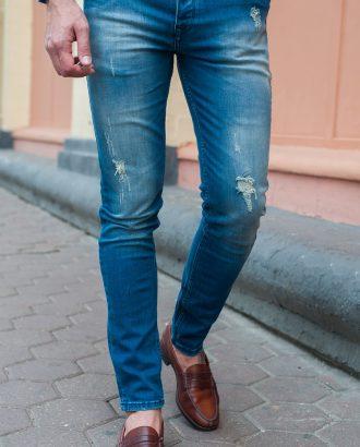 Джинсы slim fit в светло- синем цвете. Ар.:7-405
