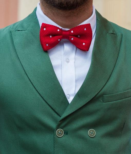 Зеленый двубортный жилет с лацканами. Арт.:3-408-3
