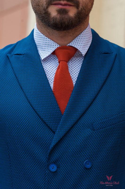 Двубортная жилетка синего цвета. Арт.:3-412-3
