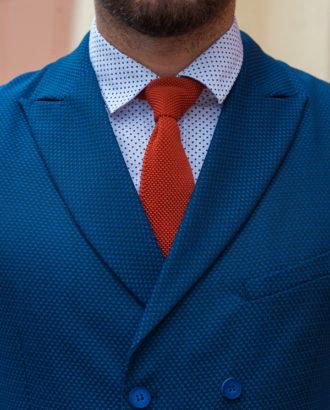 Двубортная жилетка синего цвета