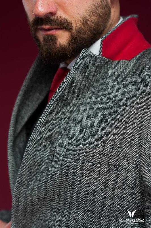 Элегантное мужское пальто приталенного кроя. Арт.:1-441-3