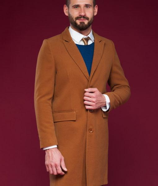Классическое пальто цвета кэмел