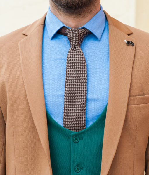 Мужской пиджак терракотового цвета. Арт.:2-416-1