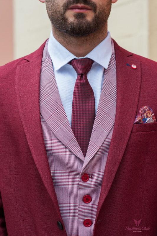 Укороченный пиджак малинового цвета. Арт.:2-418-5