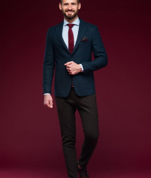 Приталенный пиджак синего цвета. Арт.:2-473-3