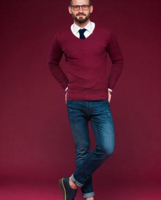 Пуловер цвета бордо. Арт.:8-470