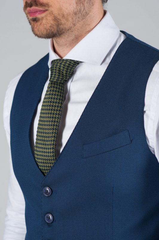 Стильный синий жилет. Арт.:3-020-3