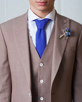 Двойка коричневого цвета (Пиджак и жилет). Арт.:4-434-4