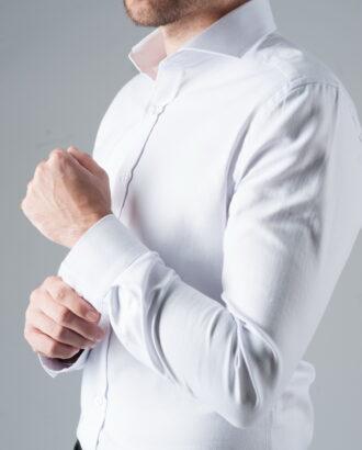 Белая рубашка с французским воротником. Арт.:5-301-3