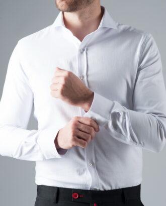 Белая рубашка с французским воротником