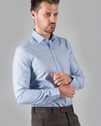 Голубая рубашка в клетку. Арт.:5-308-3