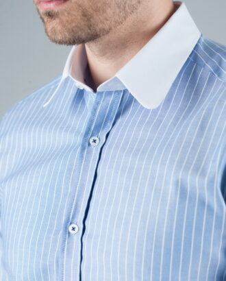 Голубая рубашка в полоску. Арт.:5-243-3