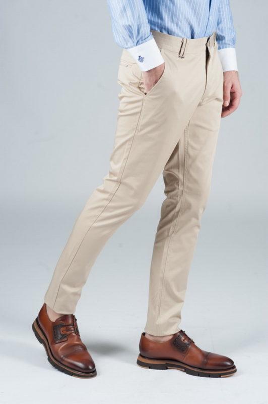 Светло-бежевые хлопковые брюки. Арт.:6-243-1