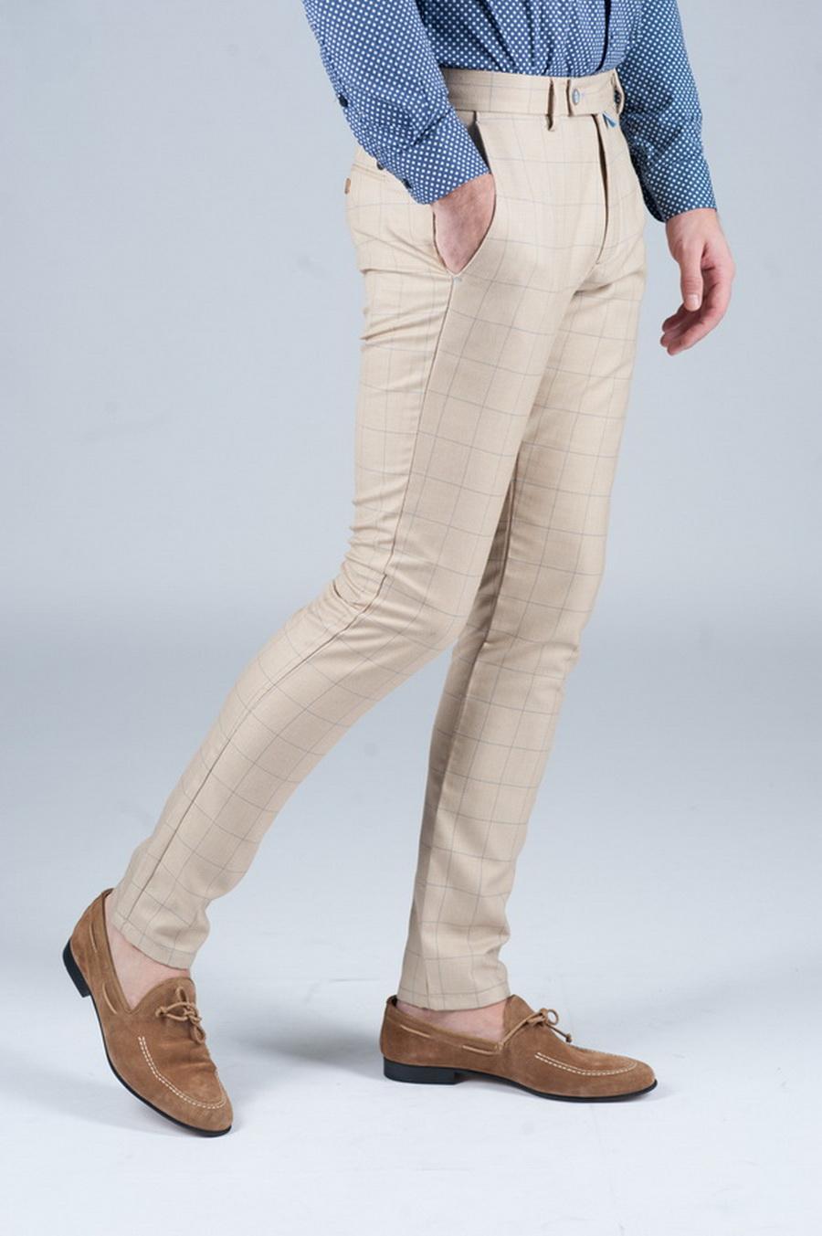 Модные брюки в тонкую клетку. Арт.:6-244-3