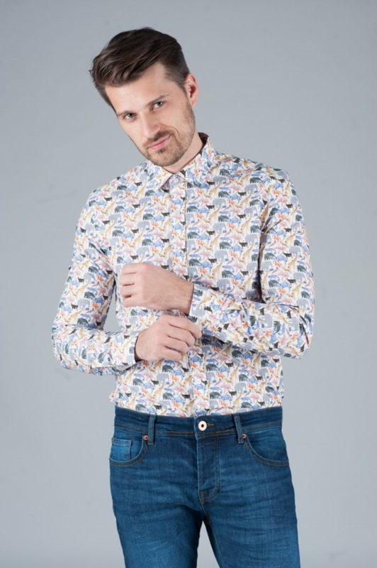 Рубашка с оригинальным принтом. Арт.:5-247-3