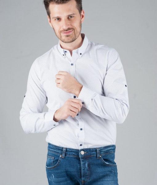 Приталенная рубашка с воротником на пуговицах. Арт.:5-249-16