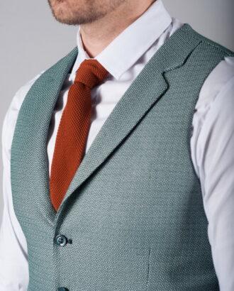 Костюм-двойка зеленого цвета (жилет и брюки) S-271OW