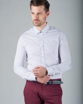 Приталенная рубашка с вертикальной полоской. Арт.:5-273-8