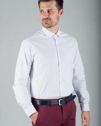 Приталенная рубашка с мелким принтом. Арт.:5-274-8