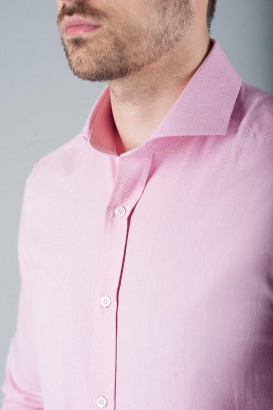 Розовая приталенная рубашка. Арт.:5-278-3