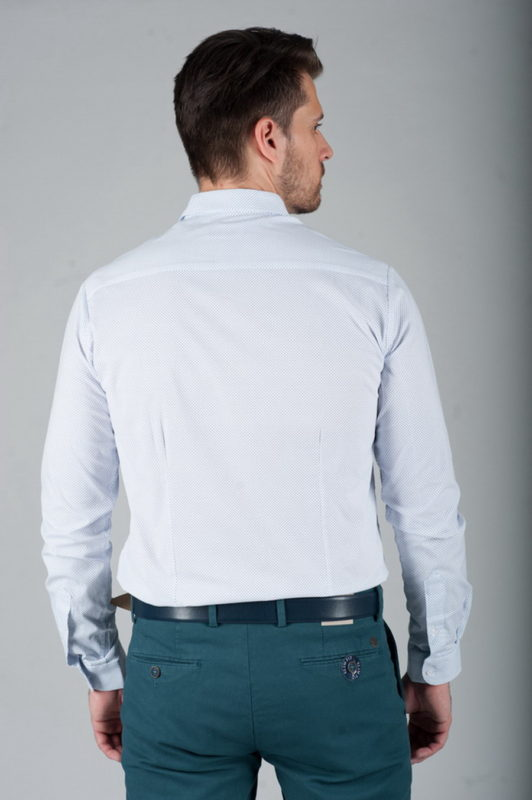 Приталенная рубашка из легкой ткани. Арт.:5-280-3