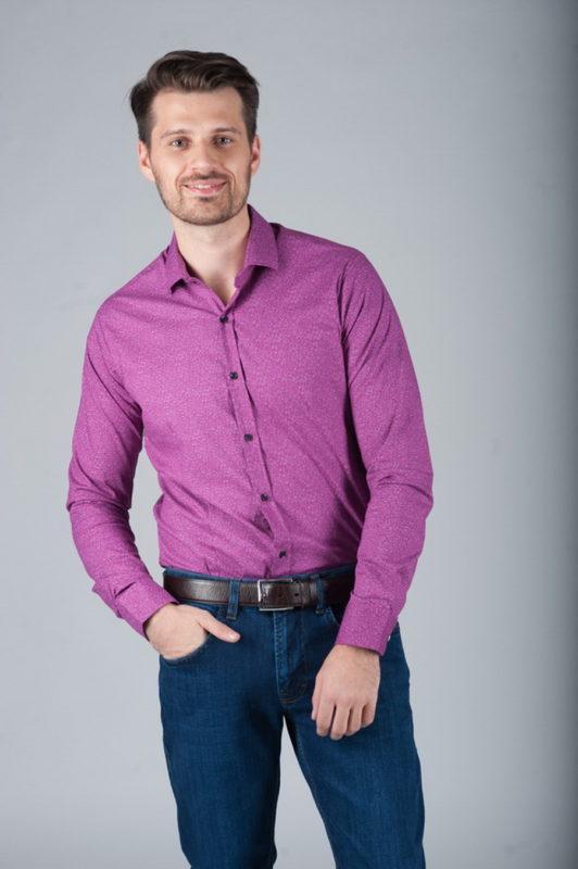Рубашка super slim в сиреневом цвете. Арт.:5-281-8