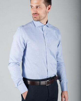 Мужская рубашка приталенного кроя