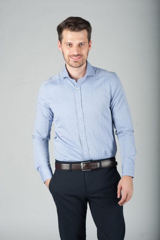Мужская рубашка приталенного кроя. Арт.:5-284-3