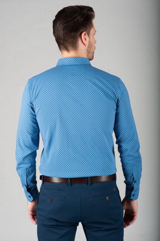 Светло-синяя приталенная рубашка. Арт.:5-286-13